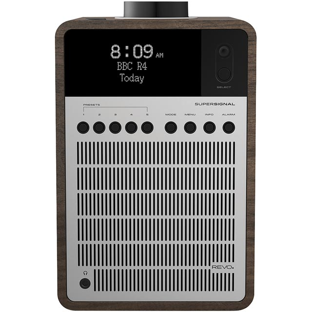 REVO SuperSignal DAB / DAB+ Digital Radio with FM Tuner - Walnut and Silver - 5060136411410 - 1