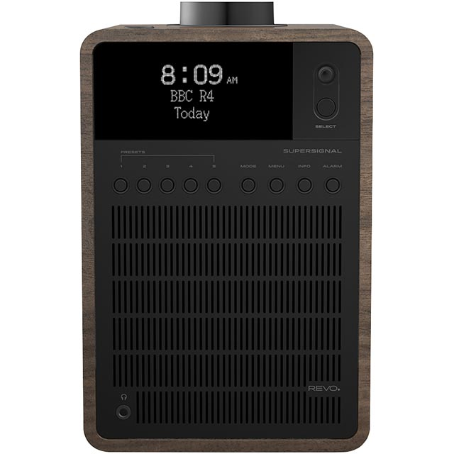 REVO SuperSignal 5060136411496 Digital Radio in Walnut and Black