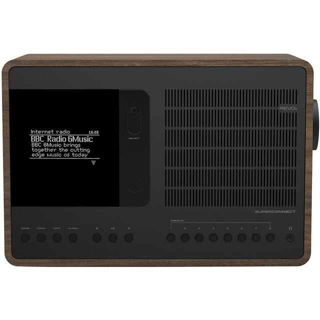 REVO SuperConnect 5060136411502 Digital Radio in Walnut and Black