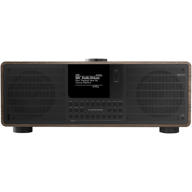REVO SuperSystem DAB / DAB+ Digital Radio with FM Tuner - Walnut and Black - 5060136411656 - 1