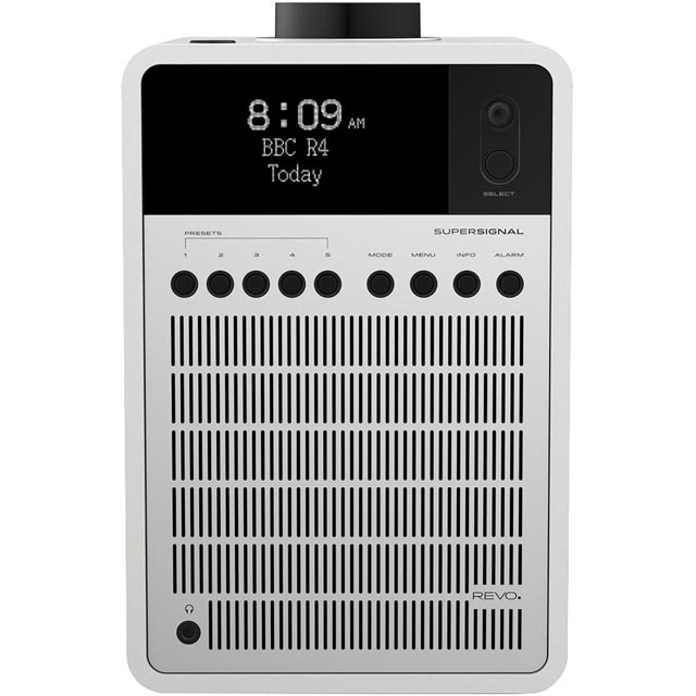 REVO SuperSignal DAB / DAB+ Digital Radio with FM Tuner - White / Silver - 5060136411717 - 1