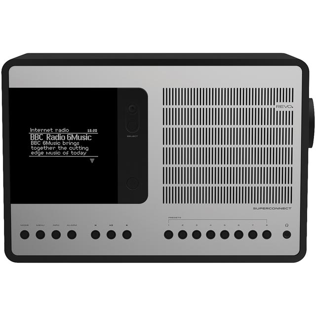 REVO SuperConnect DAB / DAB+ Digital Radio with FM Tuner - Black / Silver - 5060136411731 - 1