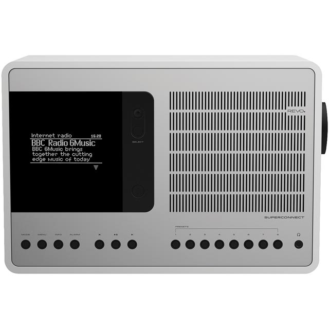 REVO SuperConnect DAB / DAB+ Digital Radio with FM Tuner - White / Silver - 5060136411755 - 1
