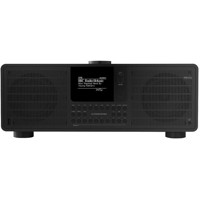 REVO SuperSystem DAB / DAB+ Digital Radio with FM Tuner - Black - 5060136411847 - 1