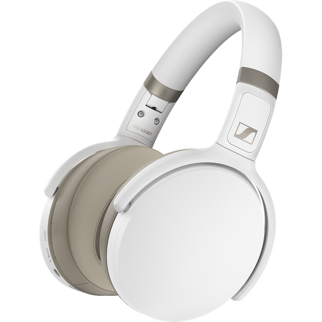 Sennheiser HD 450BT Over-Ear Wireless Bluetooth Headphones - White