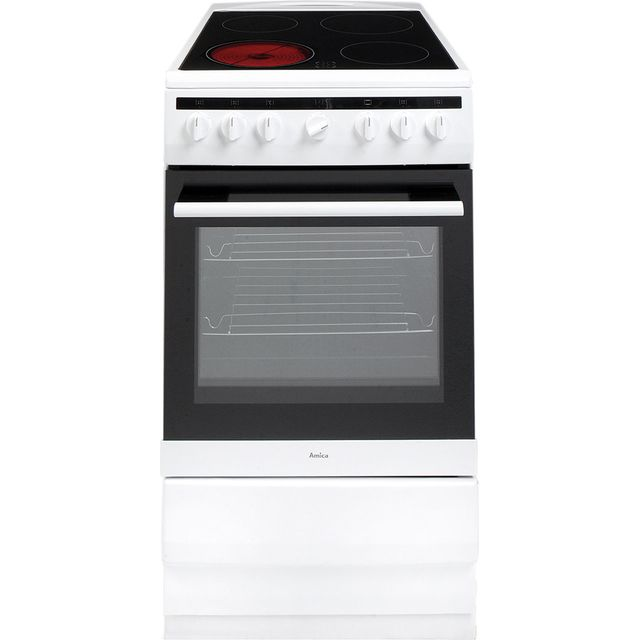 Amica 508CE2MSW Electric Cooker - White - 508CE2MSW_WH - 1