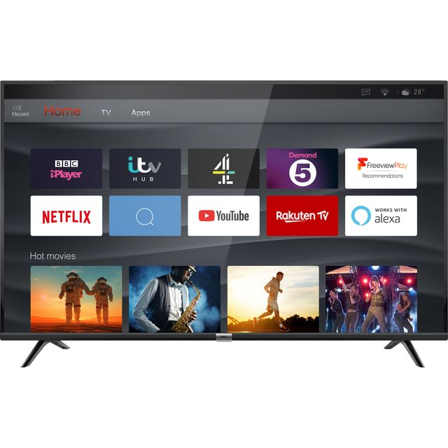 """TCL 50DP628 50"""" Smart 4K Ultra HD TV with HDR10 and Freeview Play"""