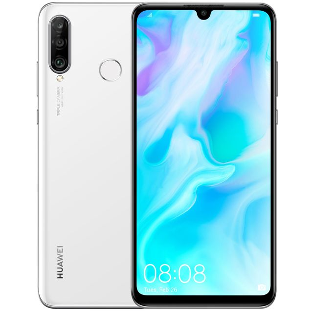 Huawei P30 Lite 128GB Smartphone in White - 51093NNJ - 1