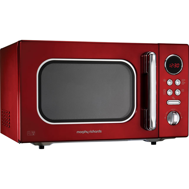 Morphy Richards Evoke 511512 23 Litre Microwave - Red - 511512_RD - 1