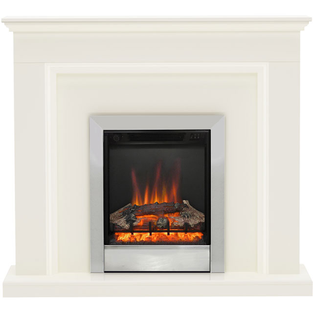 BeModern Westcroft Log Effect Suite And Surround - White
