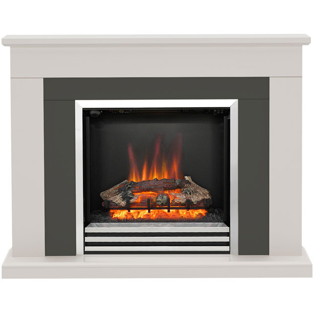 Image of BeModern Preston 5371 Log Effect Suite And Surround Fireplace - Cashmere