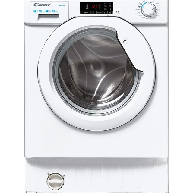 Candy CBW49D1E Integrated 9Kg Washing Machine with 1400 rpm - White - D Rated