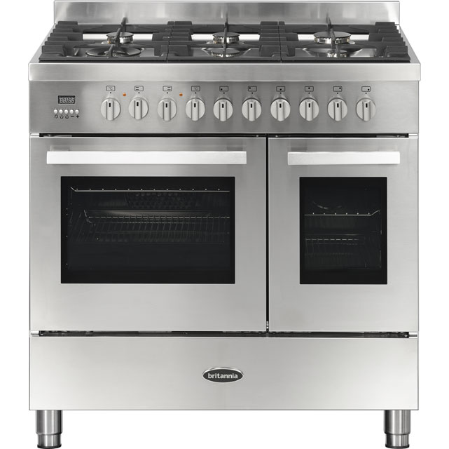 Britannia Stanza Dual Fuel Range Cooker - Stainless Steel - A Rated