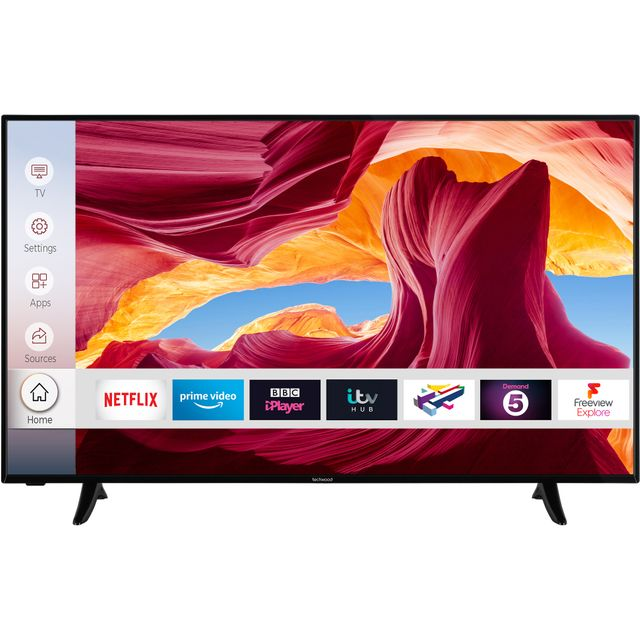 "Techwood 55AO9UHD 55"" Smart 4K Ultra HD TV - Black - 55AO9UHD - 1"