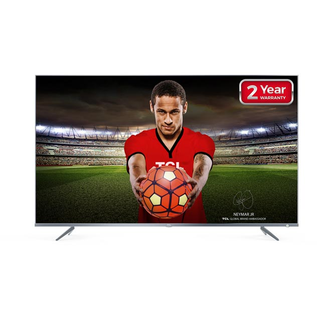 "TCL 55"" Smart 4K Ultra HD TV with HDR and Freeview Play - Silver - [A+ Rated]"