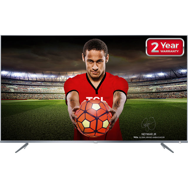 "TCL 55DP648 55"" Smart 4K Ultra HD TV with HDR and Freeview Play - Silver - [A+ Rated] - 55DP648 - 1"