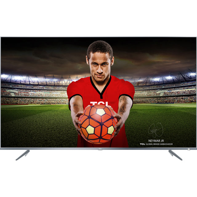 "TCL 55DP648 55"" Smart 4K Ultra HD TV with HDR and Freeview Play - Silver - [A+ Rated]"