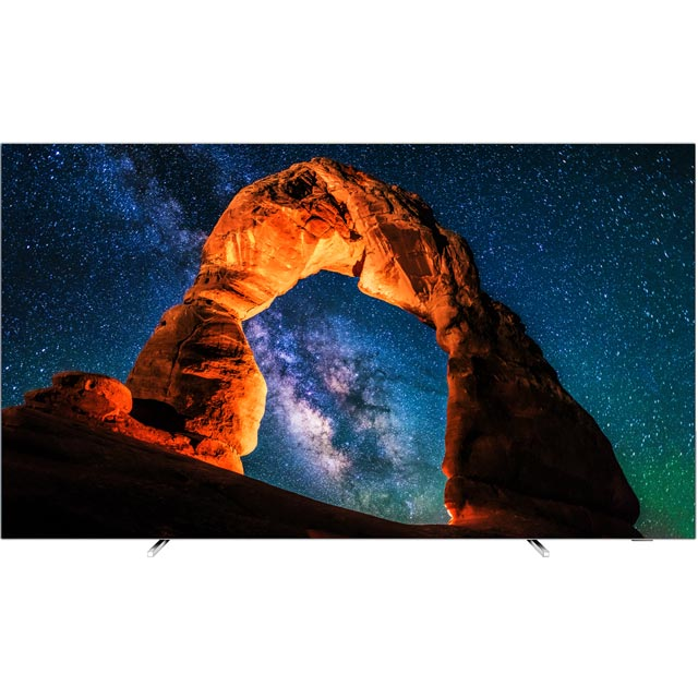 "Philips 55OLED803/12 55"" Smart Ambilight 4K Ultra HD TV with HDR and HDR10, HLG OLED - Silver - [B Rated] - 55OLED803/12 - 1"