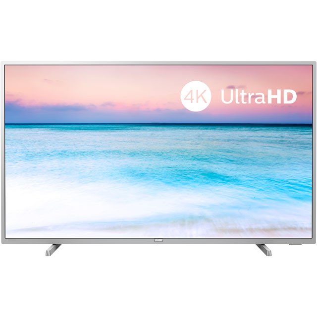 "Philips 55PUS6554 55"" Smart 4K Ultra HD TV - Light Silver - 55PUS6554 - 1"