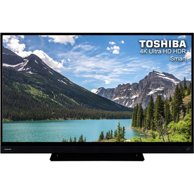 "Toshiba TV 43"" Smart 4K Ultra HD TV with HDR and Freeview Play - Black - [A+ Rated]"