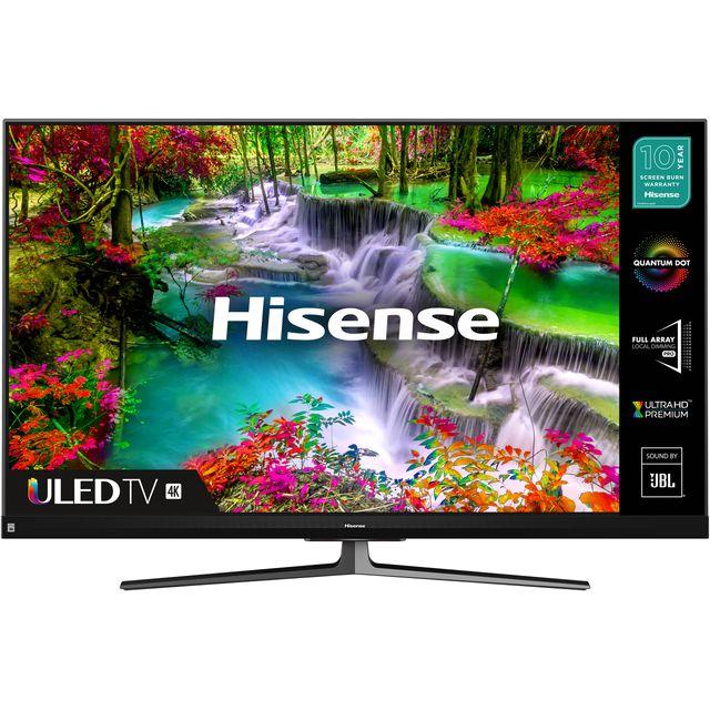 """Hisense QLED 55U8QFTUK 55"""" Smart HDR 4K Ultra HD TV"""