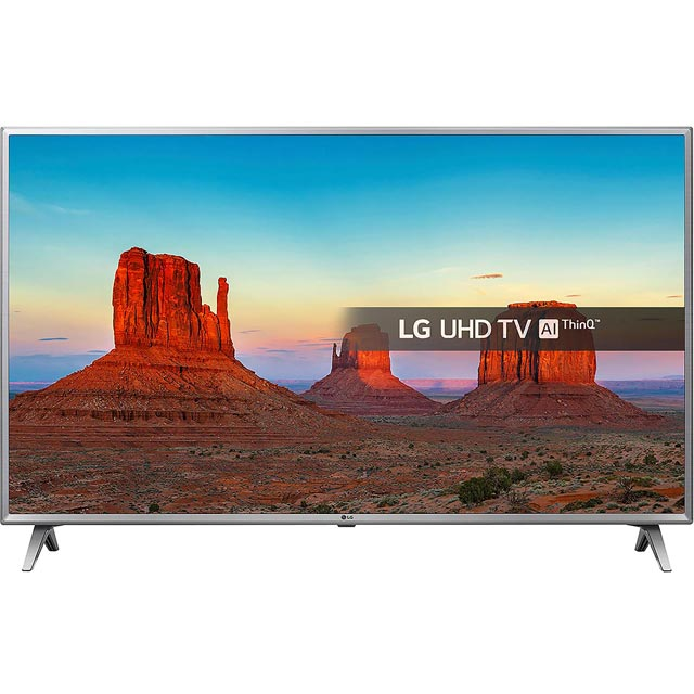 "LG 55UK6500PLA 55"" Smart 4K Ultra HD TV with HDR and Freeview Play - Black / Silver - [A+ Rated] - 55UK6500PLA - 1"