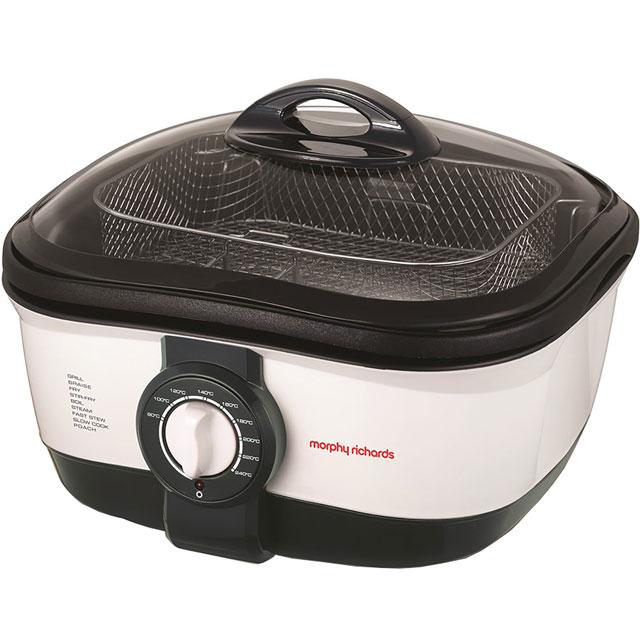 Morphy Richards 562020 Multi Cooker in White / Black