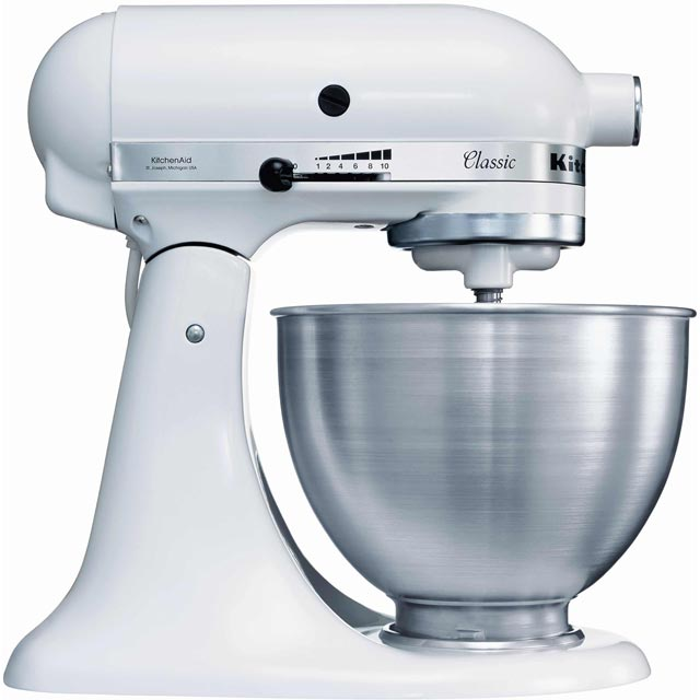 KitchenAid 5K45SS Stand Mixer with 4.3 Litre Bowl - White - 5K45SS_WH - 1