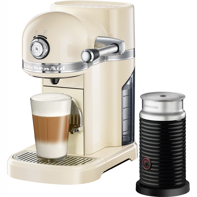 Nespresso By KitchenAid 5KES0504BAC Artisan With Aeroccino3 Coffee Machine - Cream