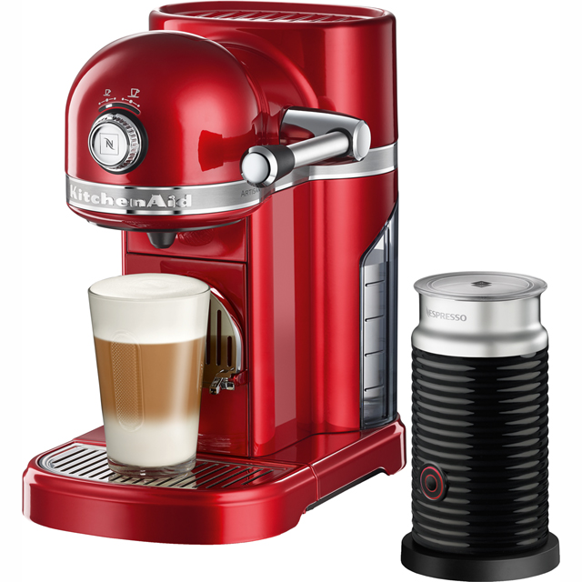 Nespresso By KitchenAid Artisan With Aeroccino3 Coffee Machine - Red