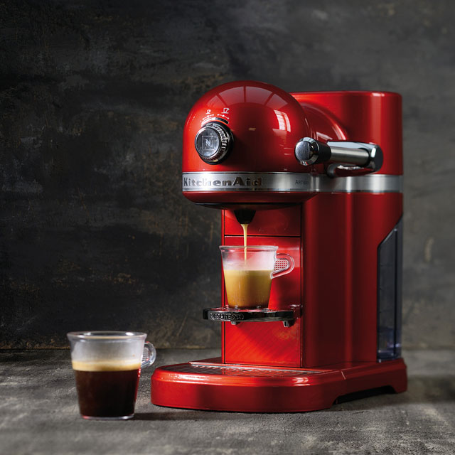 Nespresso By Kitchenaid Artisan With Aeroccino3 5kes0504ber Red