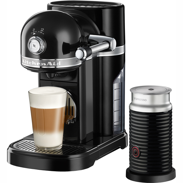 Nespresso By KitchenAid Artisan With Aeroccino3 Coffee Machine - Black