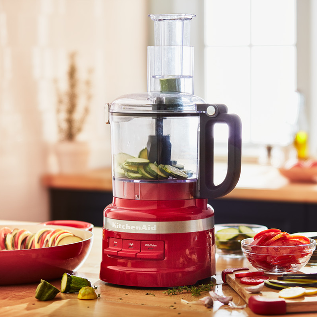 Image of KitchenAid 5KFP0719BER 1.7 Litre Food Processor With 4 Accessories - Empire Red
