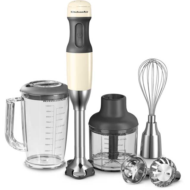 KitchenAid 5 Speed 5KHB2571BAC Hand Blender with 5 Accessories - Almond Cream