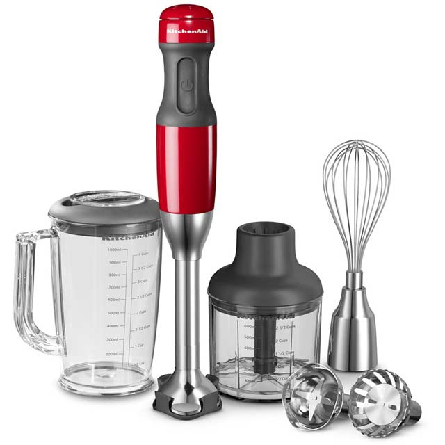 KitchenAid 5 Speed 5KHB2571BER Hand Blender with 5 Accessories - Empire Red