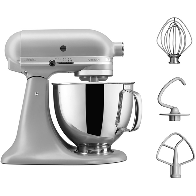 KitchenAid Artisan 5KSM125BFG Stand Mixer with 4.8 Litre Bowl - Matte Grey - 5KSM125BFG_GY - 1