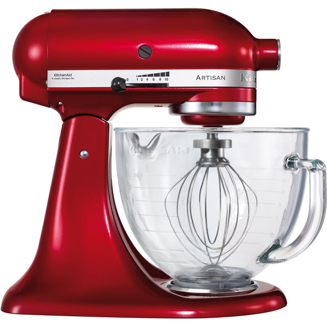 KitchenAid Artisan 5KSM156BCA Stand Mixer with 4.8 Litre Bowl - Candy Apple Red - 5KSM156BCA_CA - 1