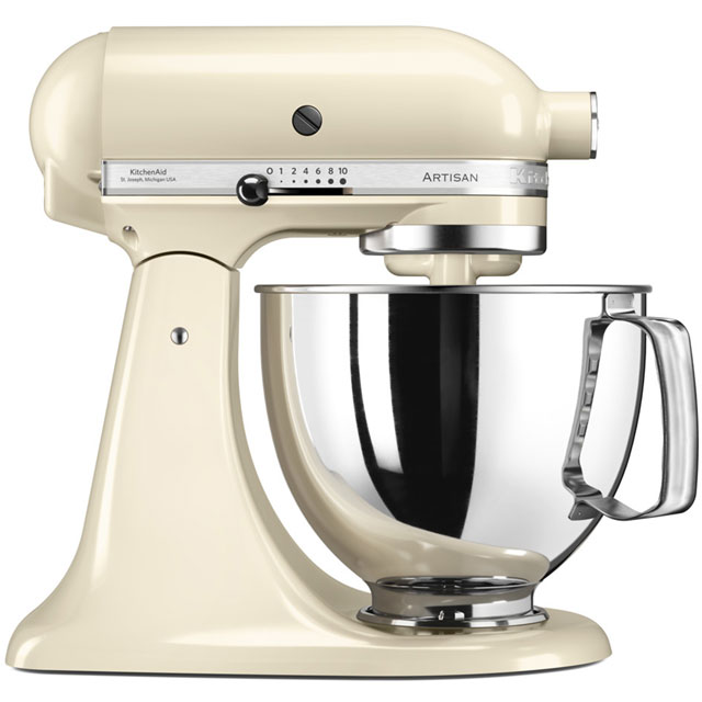 KitchenAid Artisan 5KSM175PSBAC Stand Mixer with 4.8 Litre Bowl - Almond Cream - 5KSM175PSBAC_ACR - 1