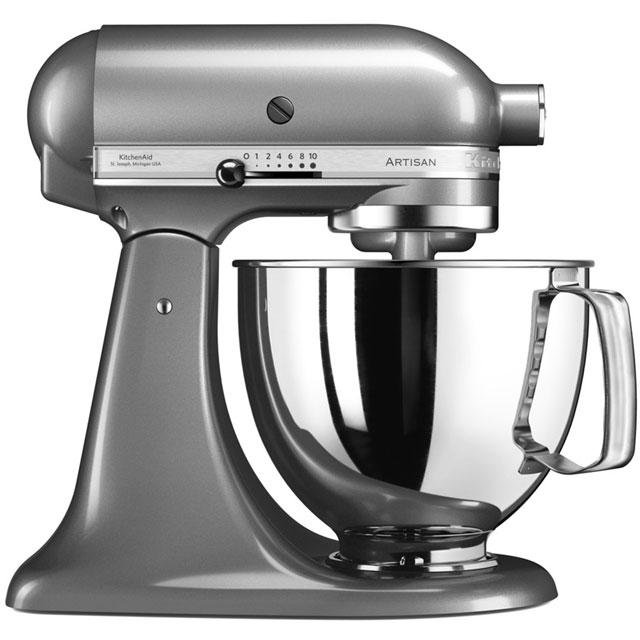 KitchenAid Artisan 5KSM175PSBCU Stand Mixer with 4.8 Litre Bowl - Contour Silver
