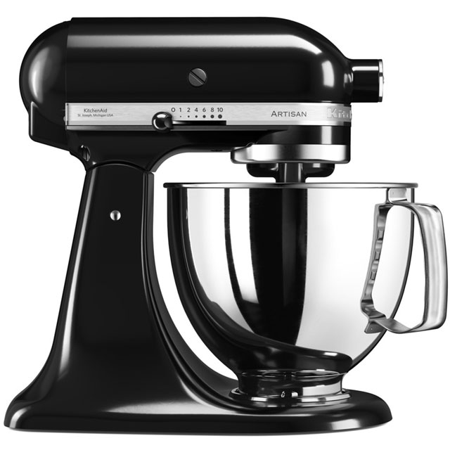 KitchenAid Artisan 5KSM175PSBOB Stand Mixer with 4.8 Litre Bowl - Onyx Black - 5KSM175PSBOB_OBK - 1
