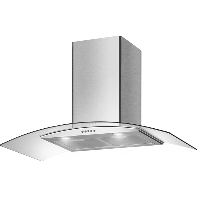 Belling Unbranded 60 UGH Built In Chimney Cooker Hood - Stainless Steel - 60 UGH_SS - 1