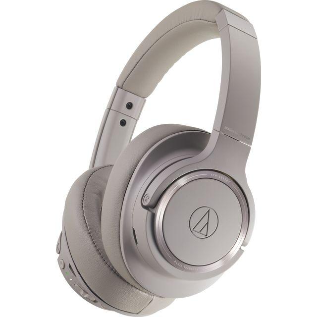 Image of Audio Technica ATH-SR50BT Head-band Bluetooth Headphones - Grey