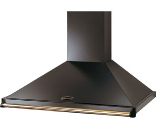 Rangemaster CLAHDC90BC Built In Chimney Cooker Hood - Black / Chrome - CLAHDC90BC_BK - 1