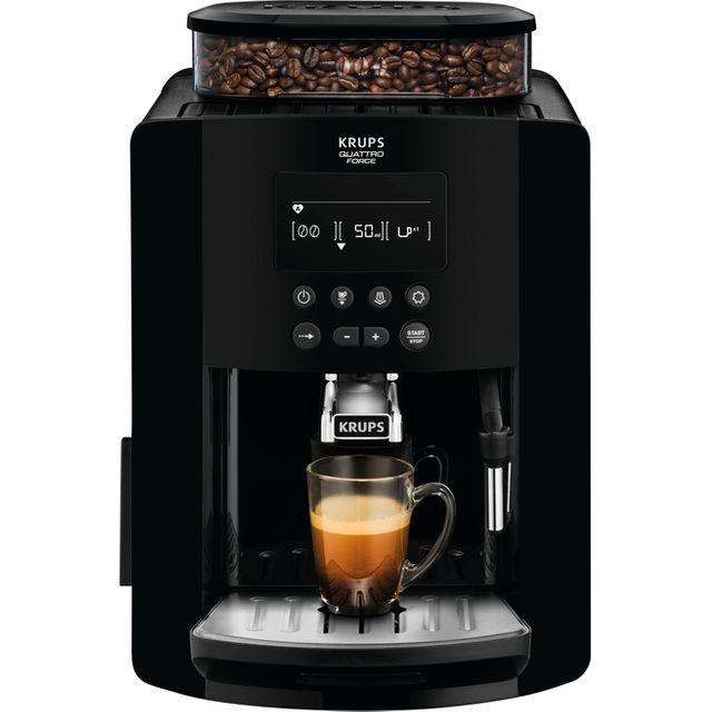 Image of Krups Arabica Digital EA817040 Bean to Cup Coffee Machine - Black