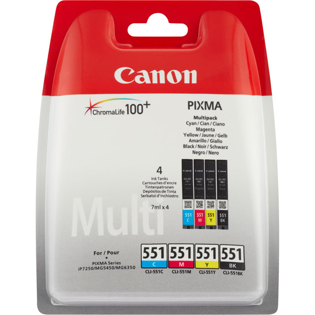 Canon CLI-551 C/M/Y/BK Multi Pack Ink