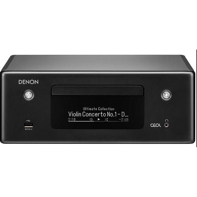 Image of Denon N-10BKE2GB 130 Watt Hi-Fi System with Bluetooth - Black