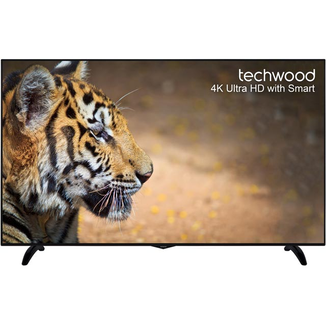 "Techwood 65AO6USB 65"" Smart 4K Ultra HD TV with Freeview Play - Black - [A+ Rated] - 65AO6USB - 1"
