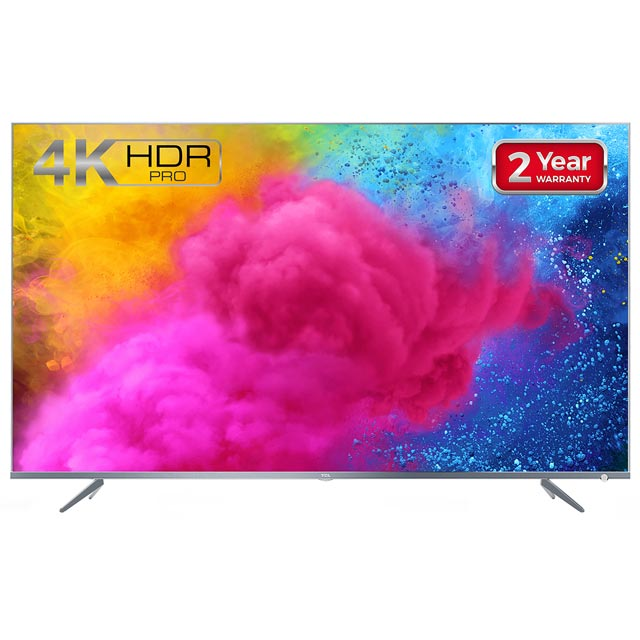 "TCL 65DP648 65"" Smart 4K Ultra HD TV with HDR and Freeview Play - Silver - [A+ Rated] - 65DP648 - 1"