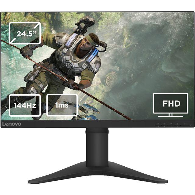 "Lenovo Full HD 24.5"" 144Hz Gaming Monitor with AMD FreeSync - Black"
