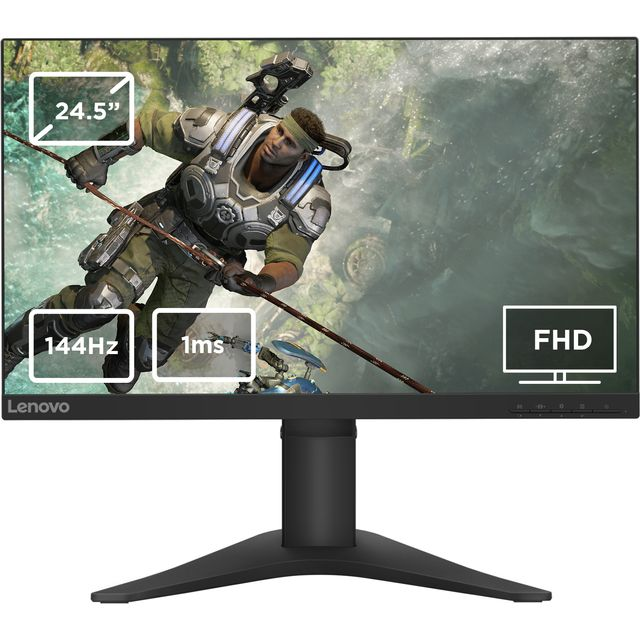 "Lenovo Full HD 24.5"" 144Hz Gaming Monitor with AMD FreeSync - Black"